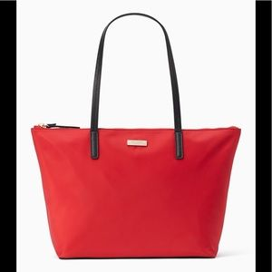 Kate Spade May Street Lida Chili Red Tote …